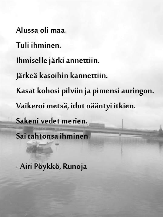 runo poikavauvalle Pietarsaari